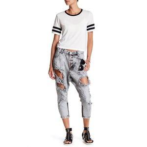 New ONE TEASPOON Kingpins Harley Wash Denim Jeans